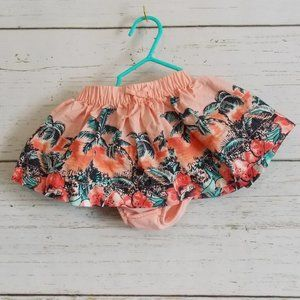 Hawaiian Prink Skirt with Diaper Cover 3m